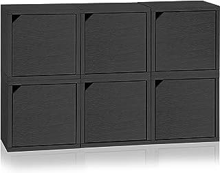 Way Basics Connect-Sistema de Almacenamiento de Dados de 6 Puertas, Color Negro (Montaje sin Herramientas y procesamiento cartón zBoard), Pizarra de Papel Reciclado, 1, Talla única
