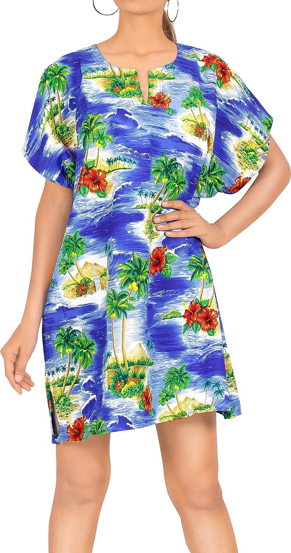 LA LEELA Womens Sleeveless Short Nightgown House dresses Slip Night Dress Sleepshirt Chemise L- XL Blue_R946