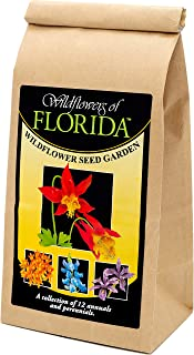 Florida Wildflower Seed Mix - A Beautiful Collection of Twelve annuals and perennials - Enjoy The Natural Beauty of Flowers in Your own Home Garden