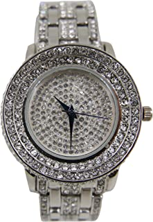 Thick is Beautiful Iced Look Hip Hop Silver Ladies Watch - L0489L Silver