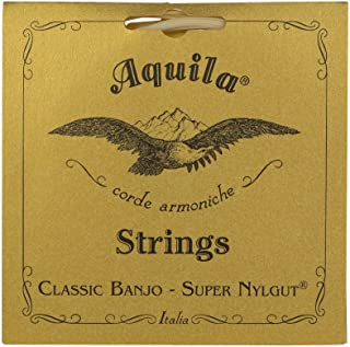 Aquila 新尼龙 AQ-1B Banjo 琴弦 - 中等张力 DBGDG - 1 套 5 根(*四根红色系列琴弦)