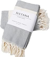 Sultana Luxury Linens Turkish Hand Towels Set of 4 |Eco-Friendly Peshtemal |100% Turkish Cotton| Hand, Tea, Kitchen, Hair, Yoga, Spa, Gym, Face, Bath | Decorative Bathroom Towel | Dishcloth Set