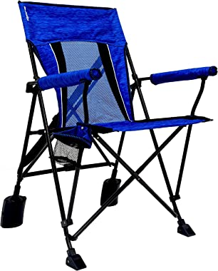 USA Top Outdoor Rok-it Rocking Chair with Padded Аrmrests Chair for Beach, Lawn, Garden, Outdoor, Maldives Blue