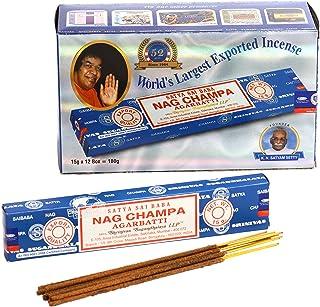 Nag Champa Lot de 12 Paquets de 15 g d'encens (180 g au Total) Bleu