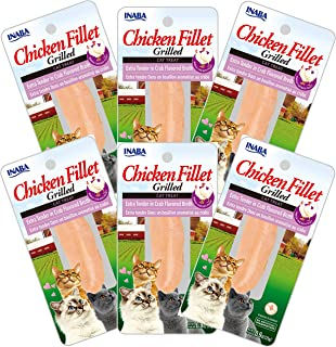 INABA Grilled Chicken Fillet in Crab Broth 6 Packs, 25 Grams (USA553A)