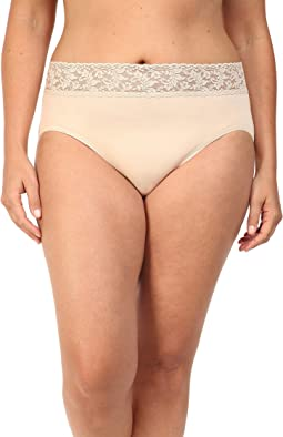 Hanky Panky - Plus Size Organic Cotton Signature Lace French Brief