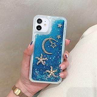 جراب Miagon Liquid Quicksand لهاتف Samsung Galaxy A32 5G، جراب جميل ثلاثي الأبعاد عليه صورة نجمة القمر الأزرق