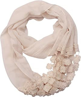 Romantic Infinity Scarf For Women – Fashion Scarf For Spring Summer, 30-Day