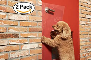 """Pet Love-J [2-Pack] Heavy Duty Door Scratch Protector; Scratch Shield for Big or Small Dogs; Ultimate Door, Frame and Wall Protection; Easy Install by Door Handle Hole - Big Size (36""""L x 16""""W)"""