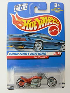 Hot Wheels 2000 First Editions #36 of 36 Blast Lane Orange on Square Red Banner Card 2000 Collector # 096