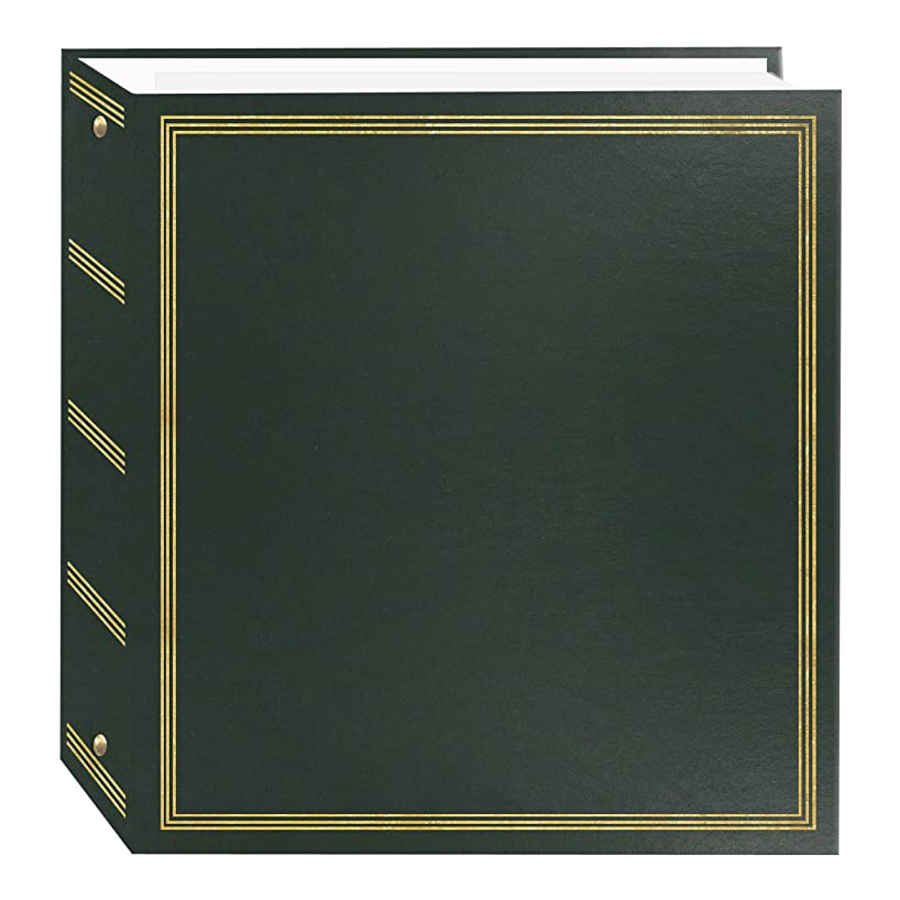 Pioneer Photo Albums TR-100 Magnetic 3-Ring Photo Album 100 Page, Hunter Green,
