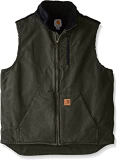 Men's Mock Neck Vest Sherpa Lining