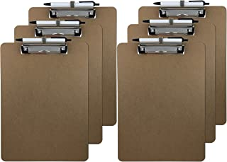 Trade Quest Pen Holder Letter Size Clipboard (6-Pack)