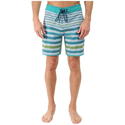 The North Face Whitecap Boardshorts Short (Vibrant Green Chambray Stripe (Prior Season)) Men