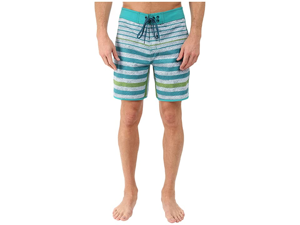 The North Face Whitecap Boardshorts Short (Vibrant Green Chambray Stripe (Prior Season)) Men