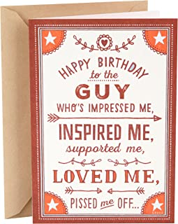 Hallmark Shoebox Funny Birthday Card for Husband (Loved Me)