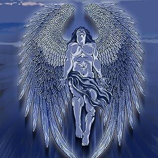 Winged Man Angelブルーデザインアートワーク–ビニールステッカー