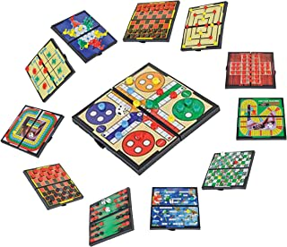 Magnetic Travel Board Games-Road Trip Entertainment, Checkers, Chess, Chinese Checkers, Tic Tac Toe, Backgammon, Snakes An...