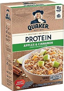 Quaker Quaker Instant Oatmeal, Protein Apple Cinnamon, 6 Count