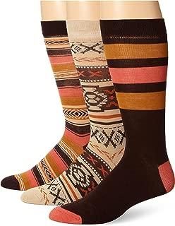Muk Luks Men's Microfiber Crew Socks, 3 Pair Pack, Brown