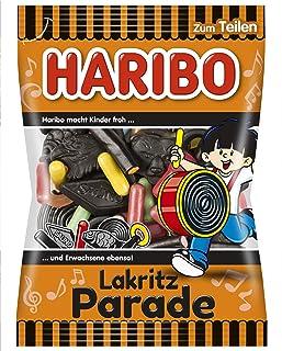 Haribo Liquorice Parade, Fruit Gum, Liquorice, Liquorice Mix, in a Bag, 200 g