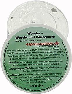 250g Wunderpaste Reinigungspaste und Polierpaste, pflegt, reinigt, poliert und schützt alle glatten Oberflächen aus Metall, Kunststoff, Keramik etc. Ideal für Haushalt, Bad, Auto, Motorrad, Camping