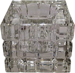 Simon Designs Gift Boxed Crystal Candle Holder (Votive) 2 3/4 x 2 3/4 x 2 1/2