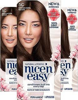 Clairol Nice'N Easy Crème 5C Medium Cool Brown (Pack of 3) (Packaging May Vary)