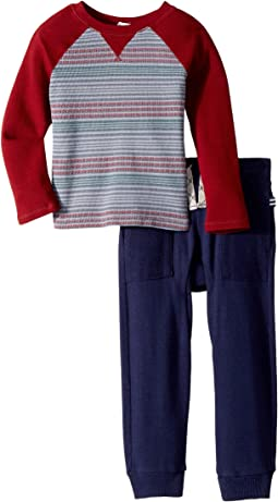 Splendid Littles - Print Stripe Raglan Pants Set (Toddler)