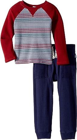 Splendid Littles - Print Stripe Raglan Pants Set (Toddler)