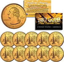 2001 gold plated state quarters
