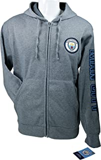 Manchester City F.C. Zipper Front Fleece Jacket Sweatshirt Official License Soccer Hoodie 010