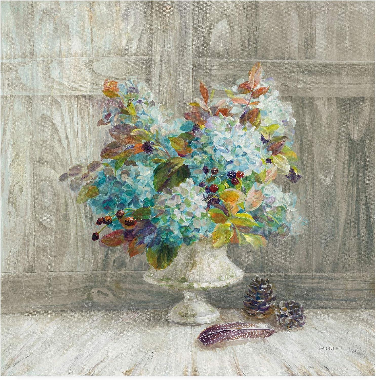Trademark Fine Art Rustic Florals by Danhui NAI, 14x14