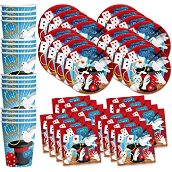 Magical Illusion Plates /& Napkins Party Kit for 8 Dessert
