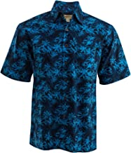 Johari West Montego Blue Tropical Hawaiian Batik Shirt