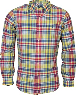 Men's Madras Plaid Long-Sleeve Woven Shirt