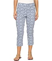 NYDJ Petite - Petite Karen Capri in Printed Stretch Sateen