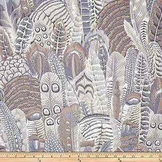 FreeSpirit Fabrics Kaffe Fassett Collective Feathers, Yard, Grey