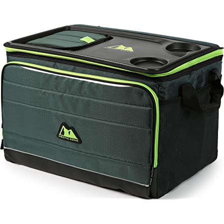 Amazon Com Arctic Zone 50 Can Collapsible Tabletop Cooler Green Sports Outdoors