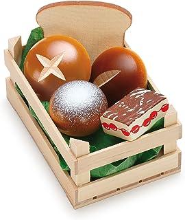 Erzi Pretend Play Wooden Grocery Shop Merchandize Assorted Small Baked Goods