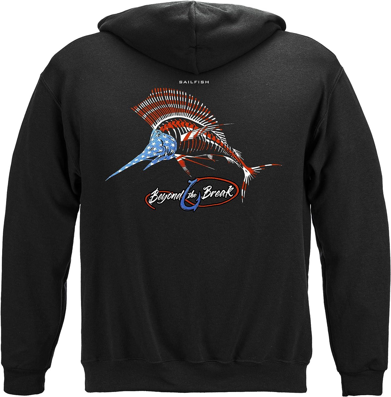 格安 価格でご提供いたします メーカー在庫限り品 Erazor Bits Fishing Hooded Sweat Sailfish BTB247 Patriotic Shirt