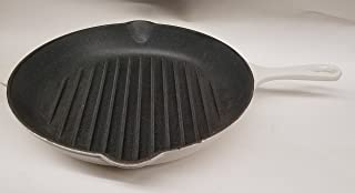 Le Creuset Cast Iron Round Skillet Grill, 10.25