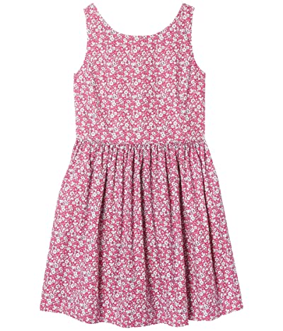 Polo Ralph Lauren Kids Floral Cotton Poplin Dress (Big Kids) (Pink Multi) Girl