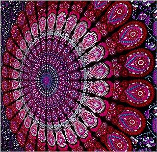 GLOBUS CHOICE INC. Mandala Tapestry Bohemian Wall Hanging, Psychedelic Wall Art, Dorm..