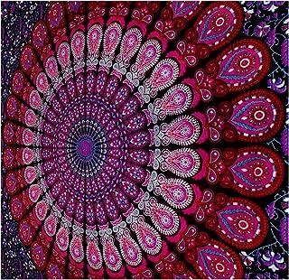 GLOBUS CHOICE INC. Mandala Tapestry Bohemian Wall Hanging, Psychedelic Wall Art, Dorm Décor Beach Throw, Indian Wall Tapestries Art