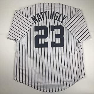 Unsigned Don Mattingly New York Pinstripe Custom Stitched Baseball Jersey Size Men's XL New No Brands/Logos