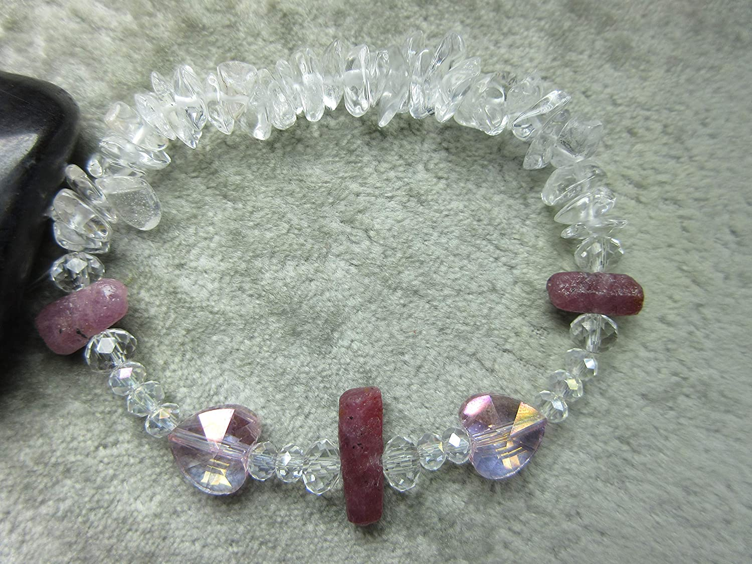 Genuine Ruby and Quartz Healing Max 42% OFF Love Bracelet Heart Sexuality Max 40% OFF