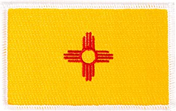 New Mexico Flag Patch Single 3.5Wx2.25H Iron On Sew Embroidered Tactical Morale Back Pack Hat Bags (Single Patch)