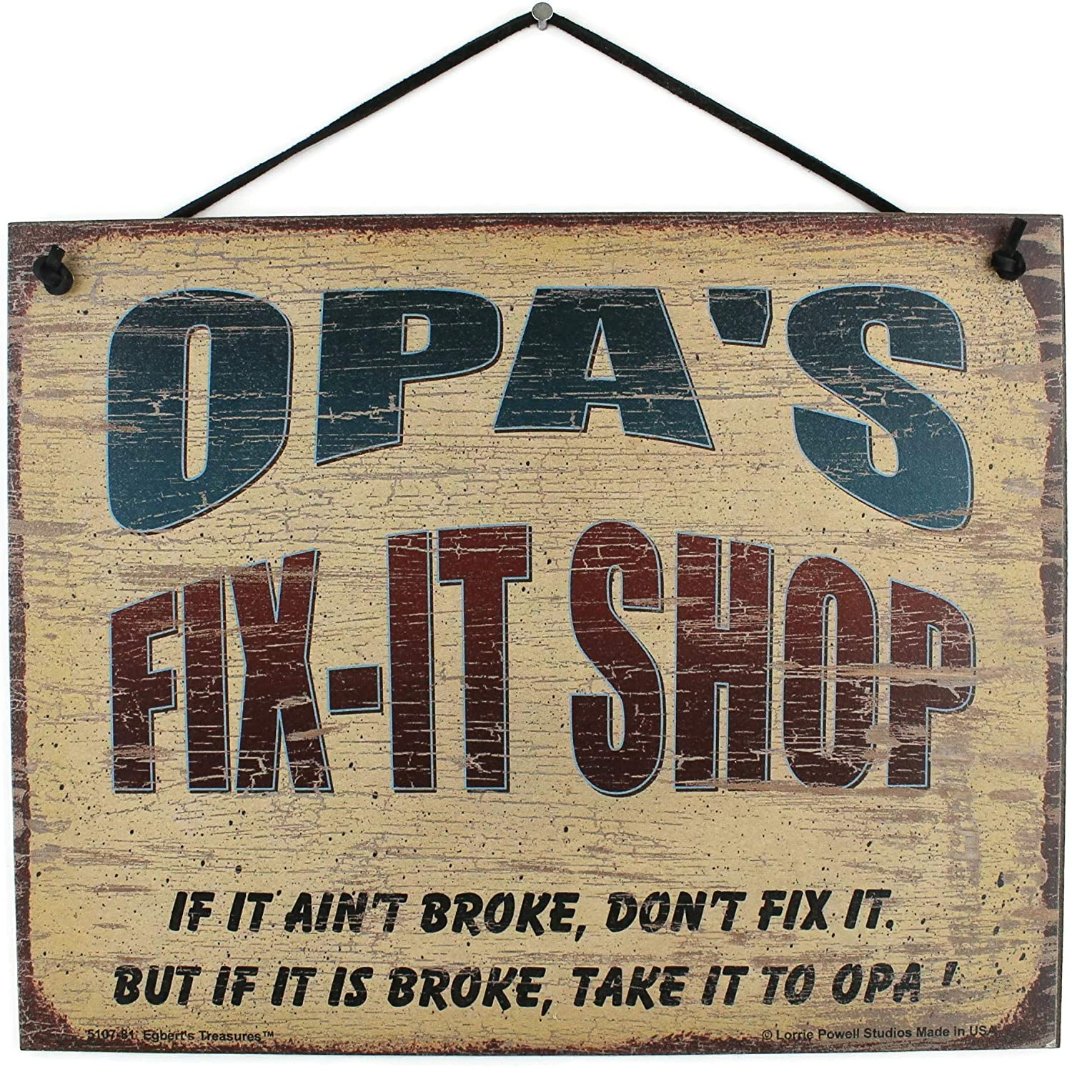 1 year warranty 8x10 Vintage Style Sign Saying