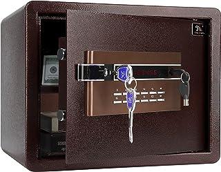 TIGERKING Security Safe Personal Safe, Digital Keypad Lock Box Safe for Cash Money Jewelry Document Cabinet Safe, 1.2 Cubi...